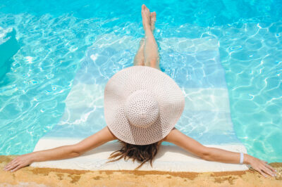 Celebrity mom over 40 relaxing by the pool   Dallas IVF   Frisco & Dallas, TX